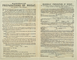 Advert For Marshall's Wheat Preparations reverse